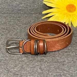 Classic Brown Leather Belt S